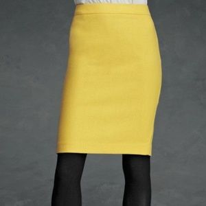 CAbi Curry Skirt 8 NWT mustard fully lined pencil
